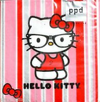 Ppd Set Of 20 Cocktail Beverage Napkins - Hello Kitty: Nerd Kitty