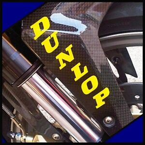 DUNLOP-fork-sticker-YELLOW-decals-6rr-FAST-SHIPPING-zx6-r1-r6-gsxr-fz16-fz07-zx7