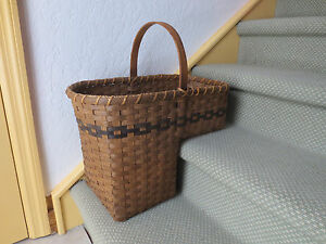 Exceptionnel Details About VINTAGE Country Rustic Wicker Stair Step Basket