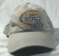 2 Bud Light Golden Wheat Khaki Twill Hat 100/% Cotton Free Shipping in the USA
