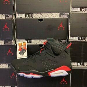 2019-Nike-AIR-JORDAN-6-VI-RETRO-OG-Black-INFRARED-384664-060-GS-amp-Men-Sz-4Y-16