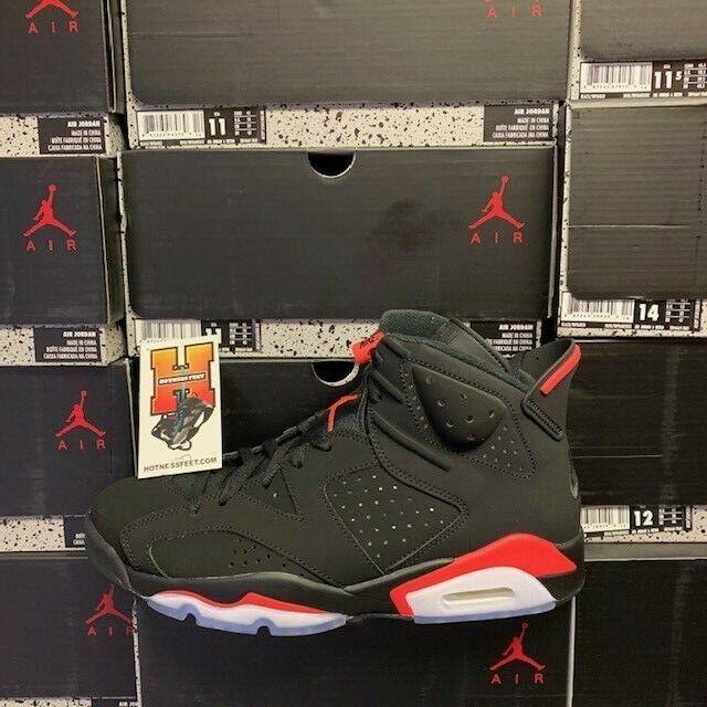 f1ea3fe0a 2019 Nike AIR JORDAN 6 VI RETRO OG Black INFRARED 384664 060 GS & Men  Sz:4Y-16