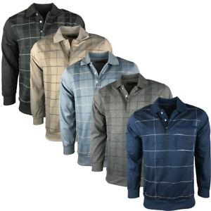 Nuevo-Para-hombres-Moda-Collar-de-comprobacion-de-marca-Fiesta-Informal-Sudadera-Jumper-De-Golf
