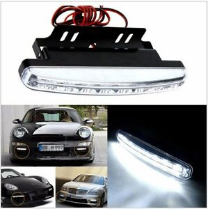 DRL Daytime Running Light 8 White LEDs HID Xenon Waterproof with FREE Delivery