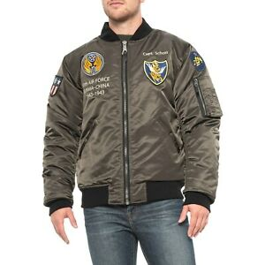 Details about New Men`s Schott NYC MA-1 Nylon 10th Air Force Flight Jacket Style 9728