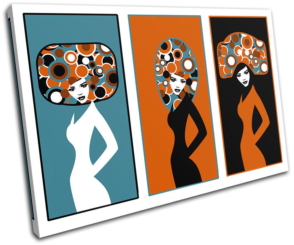 Fashion Retro Vector Illustration SINGLE TELA parete arte foto stampa