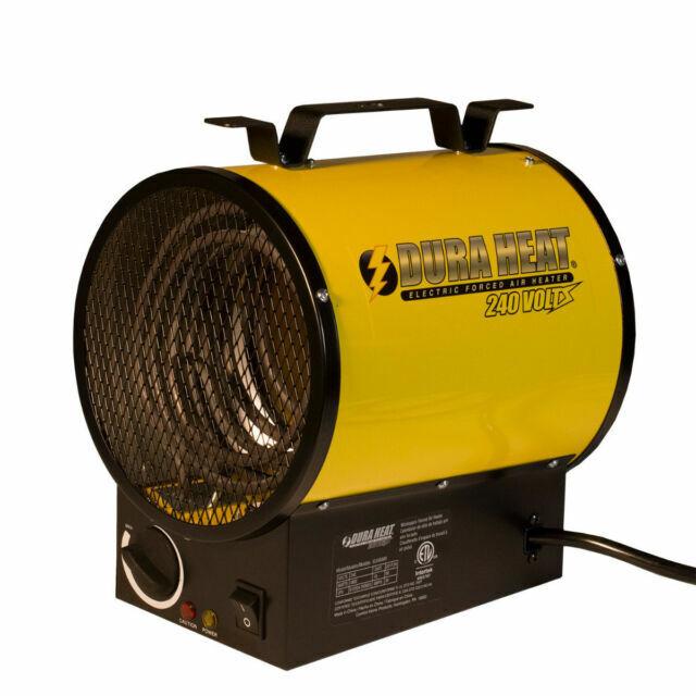 Electric Forced Air Heater 3,750-Watt 240-Volt Dura Heat Fan Forced Portable