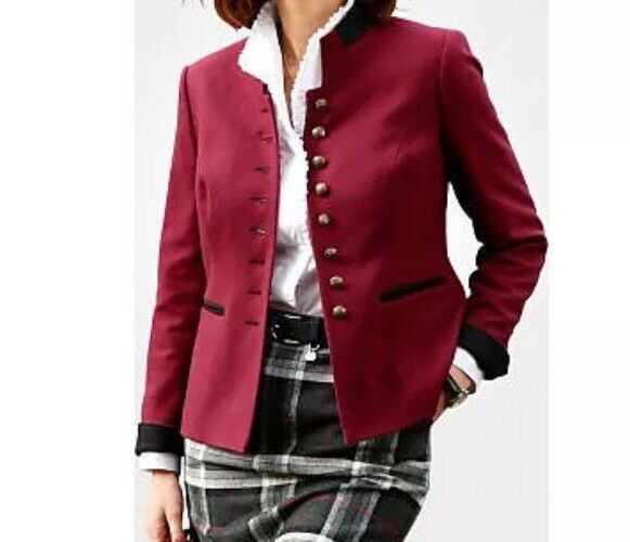 Mona Blazer Bordeaux red red red size UK26R Box39 1998dc