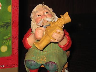 Hallmark Keepsake Christmas Ornament 2001 CARVING SANTA KOC Making Toy Soldier