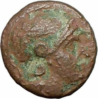 PERGAMON 282BC  Ancient Greek Coin Athena Goddes of war Bow  i27860