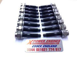 Cosworth-Pernos-De-Escape-Colector-Tuercas-Arandelas-X-16-Sierra-Escort-2WD-4WD-RS