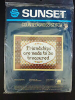 Kit Sunset Counted Cross Stitch 946 Friendships 5x7 Vintage 1983