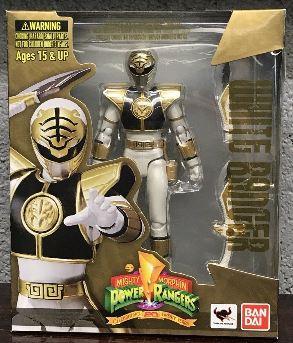 SH Figuarts Weiß MMPR Power Rangers Figure Complete Mighty Morphin 2013 Box NM