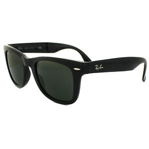 c84b90e0f48fc Ray-Ban Sunglasses Folding Wayfarer 4105 Black Green 601 Medium 50mm ...