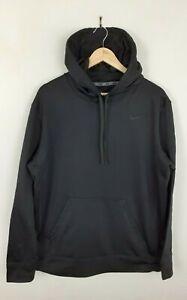 Herren-Nike-Therma-Fit-schwarz-Pullover-Sport-Kapuzenpullover-Groesse-L-Large