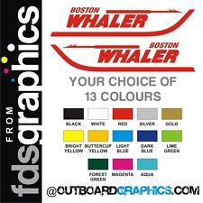 """Pair of 18"""" (457mm) Boston Whaler sticker/decals"""
