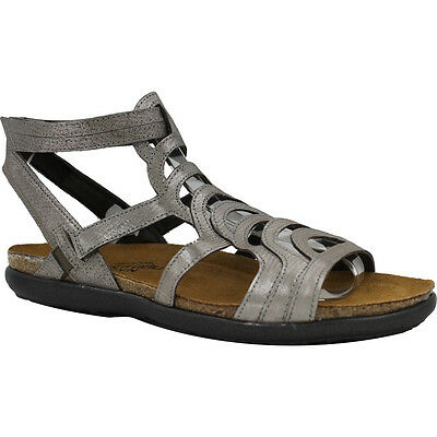 8861a7b10921 Naot Sara Women s Silver Threads Leather Sandals Size US 5 M EU 36 ...