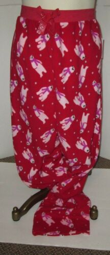 Details about  /SIMPLY STYLED WOMENS RED MICRO FLEECE LARGE PAJAMAS LOUNGE PANTS SNOWBEARS NWT