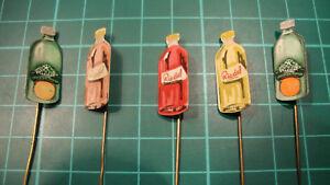 Riedel-Ede-frisdrank-stick-pin-badge-60-039-s-lapel-5pcs-speldje