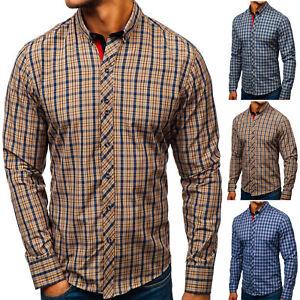 Herren Freizeithemd Herrenhemd Hemd Slim Fit Freizeit Shirt BOLF 2B2 Casual