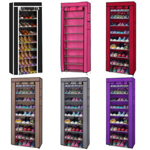 New-Portable-Shoe-Cabinet-Rack-Shelf-Storage-Closet-Organizer-with-Cover-US