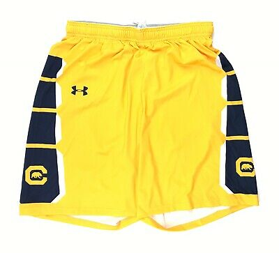 New Under Armour Men/'s Large Playmaker Short Lasalle Explorers Yellow Navy Blue