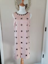 NWT Ann Taylor Formal Cocktail Dress Pale Pink Peach Jeweled India Size 6