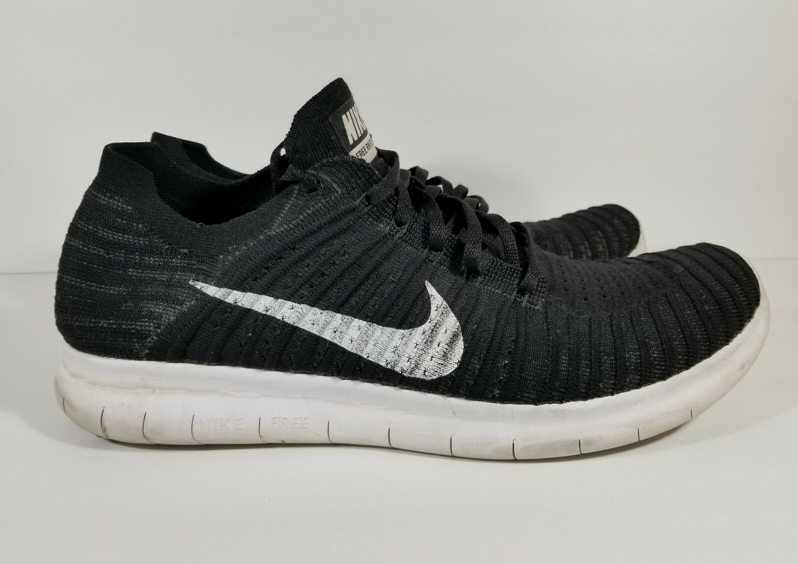 New Nike Free Rn Flyknit Men's Running Training Shoes Black/White Comfortable Cheap women's shoes women's shoes