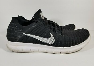 New Nike Free Rn Flyknit Men's Running Training Shoes BlackWhite Size 13 | eBay