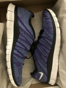 a632585852ac1 Nike Free Flyknit NSW HTM 599459-500 Size 9 Court Purple Lunar Shoes ...