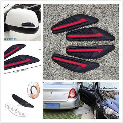 8 x Door Edge Bumper Rearview Mirror Silicone Anti-Rub Crash Bar Strip Protector