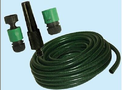 "Tubo retinato irrigazione giardino pvc 1/2"" mt 15 kit lancia raccordi 254998"