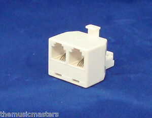 Cable Wall Outlet : Modular telephone line cable wall outlet splitter double jack