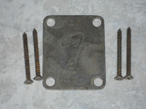 "Telecaster /""F/"" Neck plate RELIC 4-bolt OLD AGED ANTIQUE Fender Stratocaster"