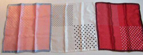 Red /& white Pink /& white $90 Jos A Bank 3 Silk pocket square Black /& white