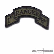 "OD Green New Hook & Loop - Modern US 1st Ranger Battalion Scroll - 3 7/8"" x 2"""