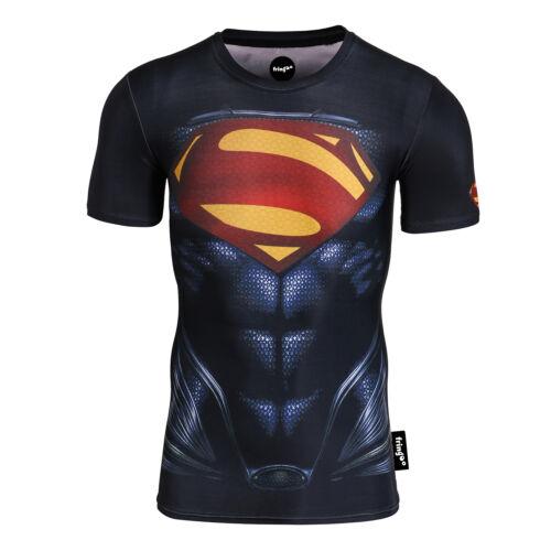 hommes Compression Super-Héros T-shirt sous-pull Gym manche longue Athlétisme
