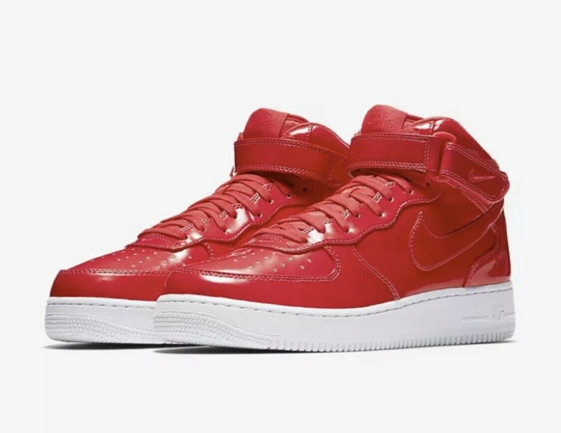 Nike Air Force 1 Mid AF1 SIREN RED PINK UV PACK PATENT LEATHER AO0702-600 sz 9.5
