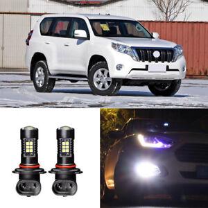 Canbus-H11-3030-21SMD-LED-DRL-Daytime-Running-Fog-Lights-Bulbs-For-Toyota-Prado