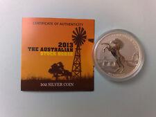Australien - Stock Horse 2013 Stgl. - 1 oz Silber - nur 10000 Ex.! - 1. Ausgabe;