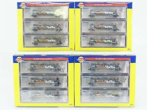 N-Scale-Athearn-GATC-GATX-23K-TANK-TRAIN-Complete-12-Car-SET-10-Inter-2-Ends