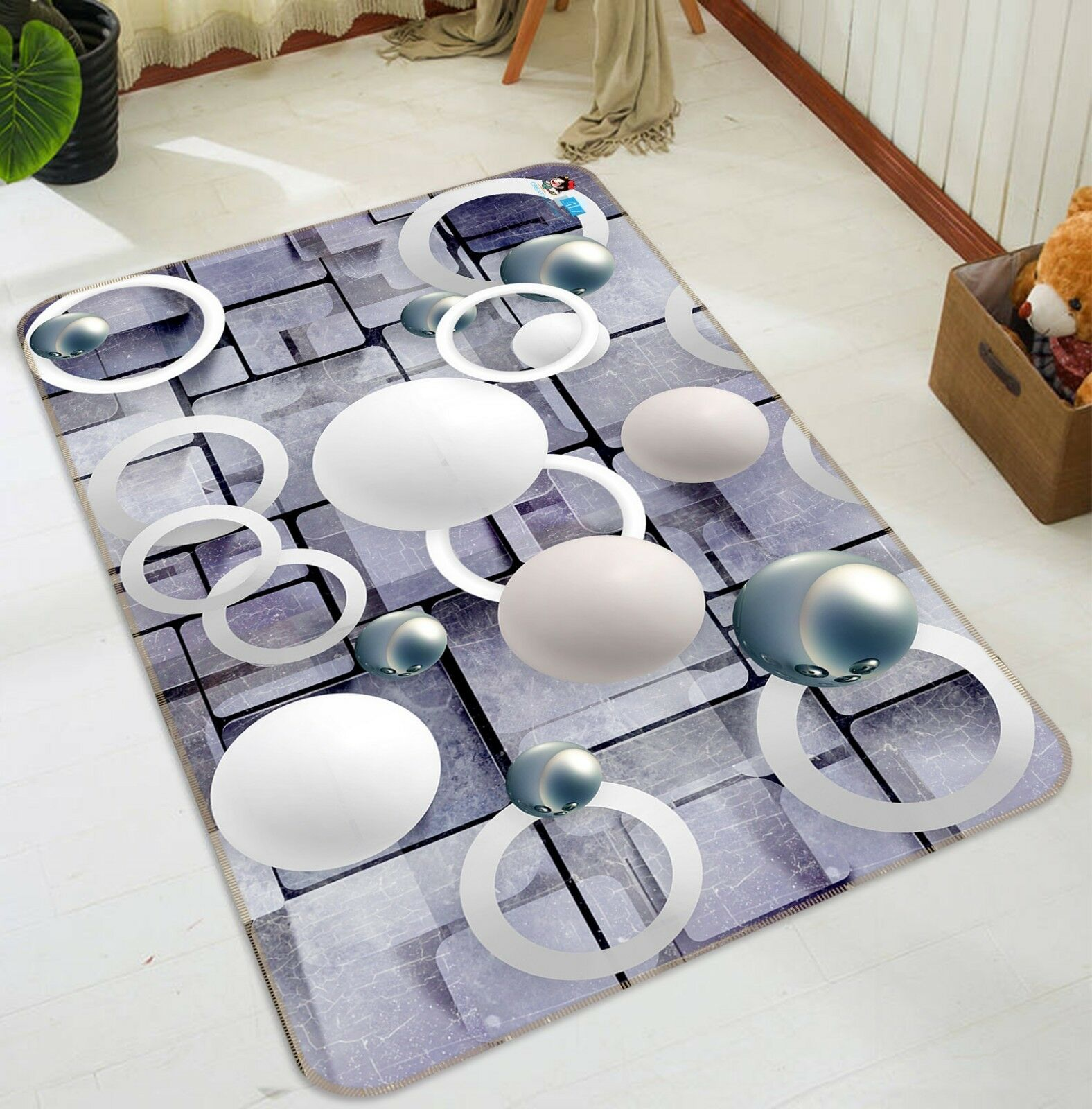 3D Round Round Round Cube Ball 56 Non Slip Rug Mat Room Mat Quality Elegant Photo Carpet UK ce4f23