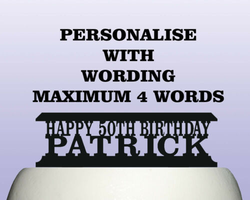 Personalised Acrylic Mixed Martial Arts Birthday Cake Topper Decoration