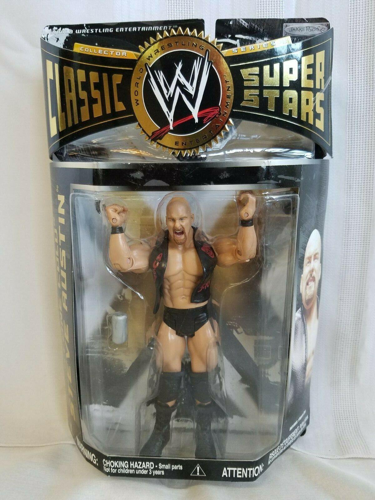WWE WWF  Stone Cold  Steve Austin classeic Superestrellas Jakks cifra Series 22