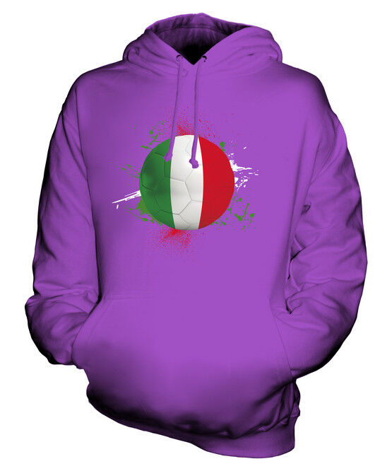 ITALY FOOTBALL UNISEX HOODIE TOP GIFT WORLD CUP SPORT