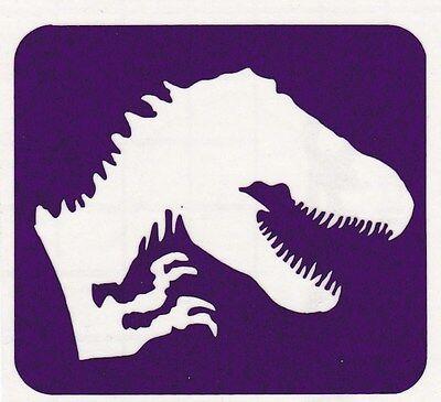 GT56 Body Art Temporary Glitter Tattoo Stencil Jurassic Park Dinosaur