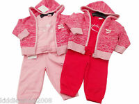 Baby Girls 3 Piece Pink Jogging Suit Sweat Top And Trousers Clothes 6 Sizes