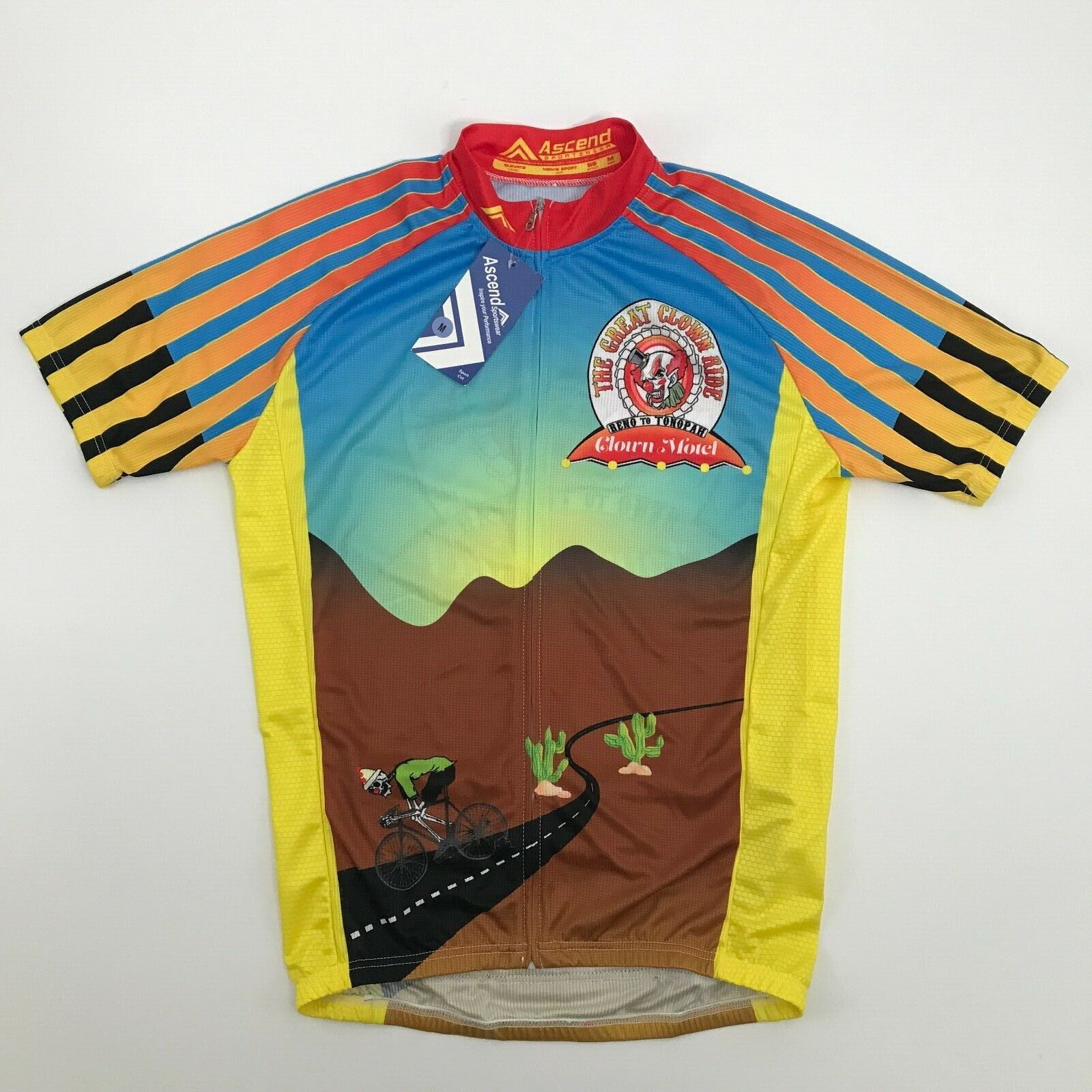 Ascend Cycling Jersey Full Zip Men's Size  Medium The Great Clown Ride New w  Tag  online retailers