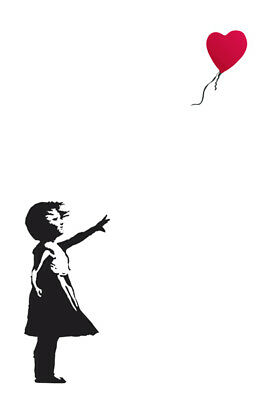 ART POSTER 24x36-51623 RED BALLOON BANKSY