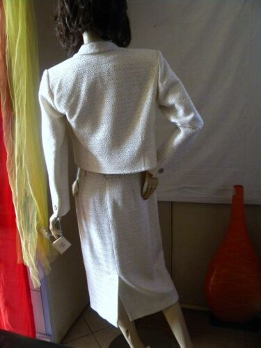 € Dress Claire Wedding 682 Up Paris 44 Skirt Jacket White Valore Tailor qA4fwA1